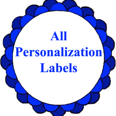 All Personalization Labels