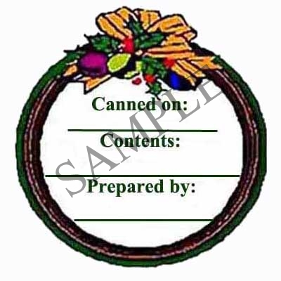 Balls and Wreath Round Canning Label #L119