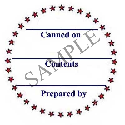 Star Border Round Canning Label #L126