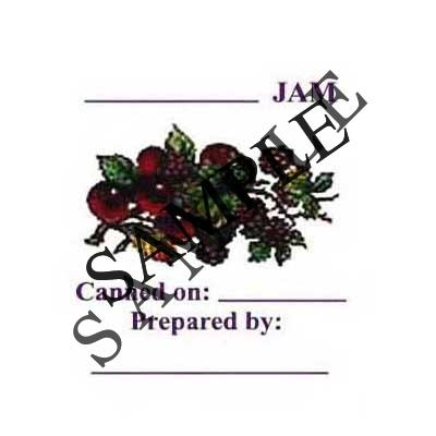Berry Jam Round Canning Label #L127