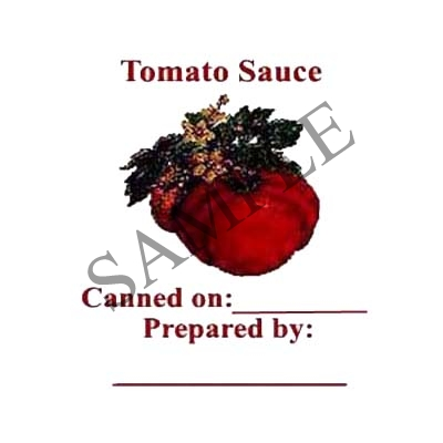 Tomato Sauce Round Canning Label #L144