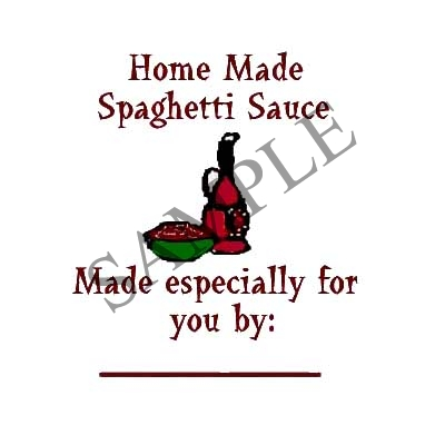 Spaghetti Sauce Round Canning Label #L145