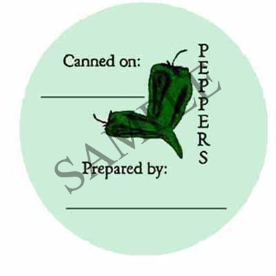 Peppers Round Canning Label