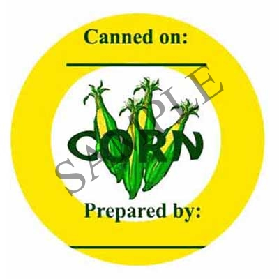 Corn Round Canning Label #L208