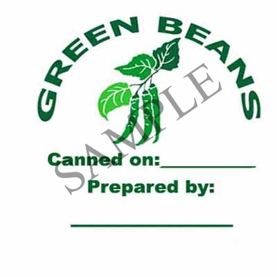 Green Beans Round Canning Label #L210