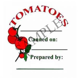 Tomatoes Round Canning Label #L211