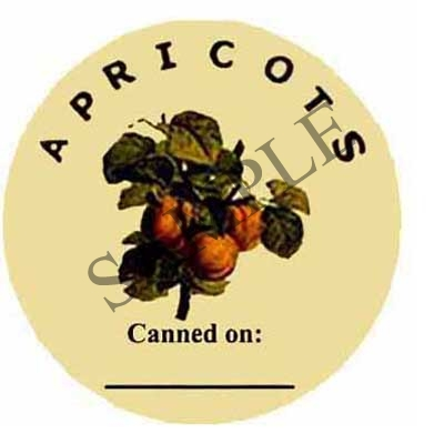 Apricots Canned On Round Canning Label #L213