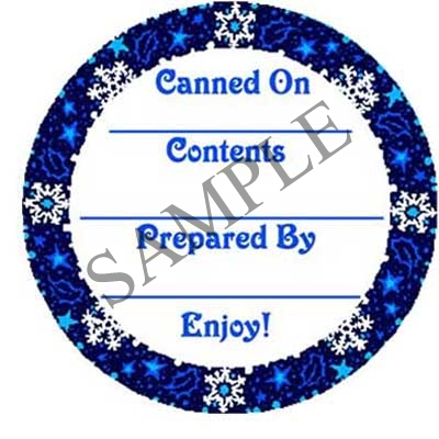 Snowflake Round Canning Label #L228