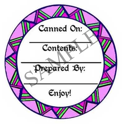 Geometric Round Canning Label #L229