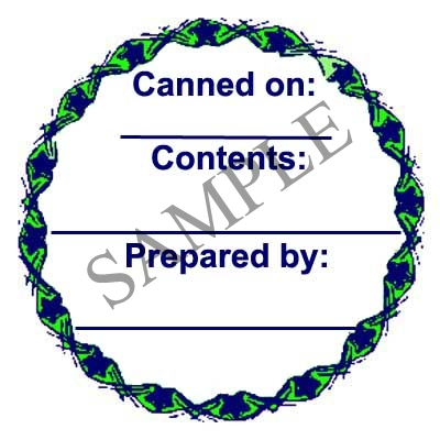 Generic Green Circle Canning Label #L232