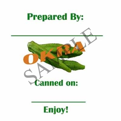 Okra Canning Label #L237