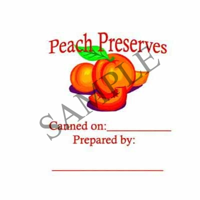 Peach Preserves Round Canning Label #L238