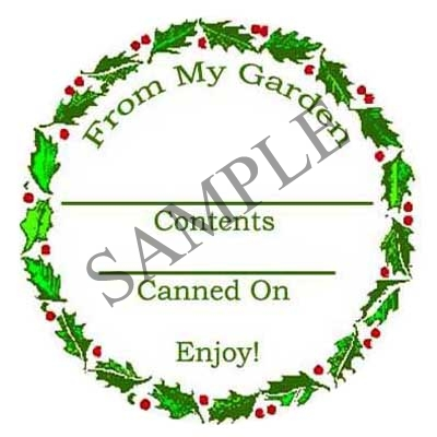 Holly Round Canning Label #L242