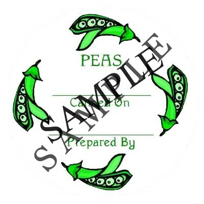 Circle Peas Round Canning Label #L253