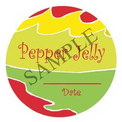 Pepper Jelly Round Canning Label #L261