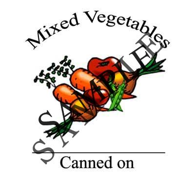 Mixed Vegetables Round Canning Label #L263