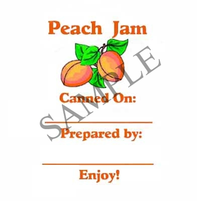Peach Jam Round Canning Label #L268