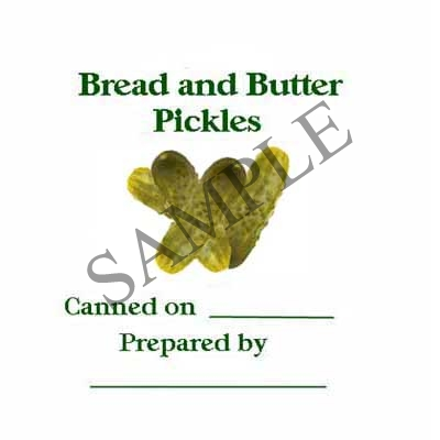 Bread & Butter Pickles Round Canning Label #L272