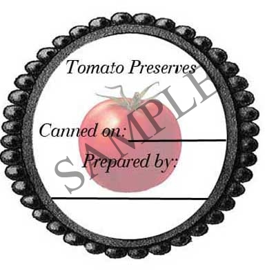 Tomato Preserves #1 Round Canning Label #L283