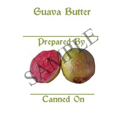 Guava Butte Round Canning Label #L312