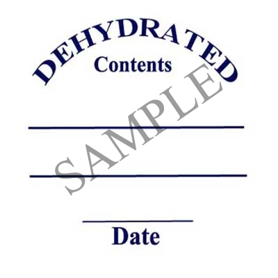 Dehydrated Round Canning Label #L313