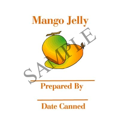 Mango Jelly Round Canning Label #L315