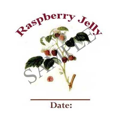 Raspberry Jelly Round Canning Label #L322