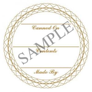 Gold Lace Generic Round Canning Label #L343