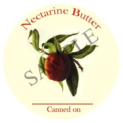 Nectarine Butter Round Canning Label #349