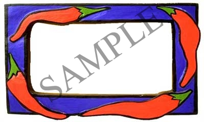 Hot Pepper Border Blank Rectangle Canning Label #RB107