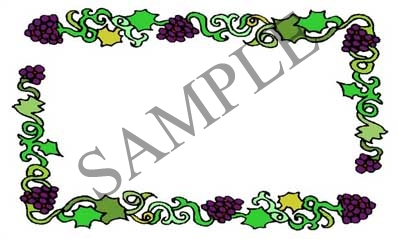 Grape Border Blank Rectangle Canning Label #RB109