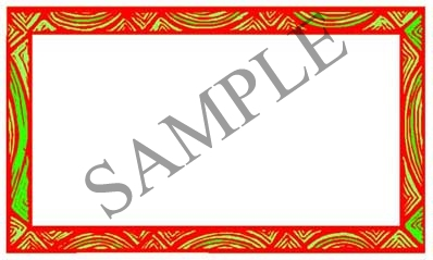 Drapes Red & Green Blank Rectangle Canning Label #RB113