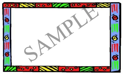 Art Deco Border Blank Rectangle Canning Label #RB114