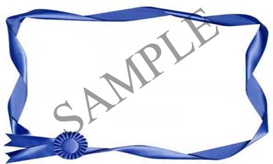 Blue Ribbon Blank Rectangle Canning Label #RB118