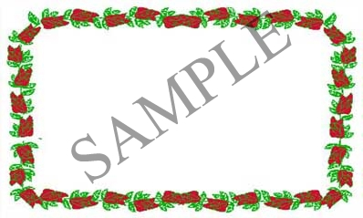Rose Border Blank Rectangle Canning Label #RB120