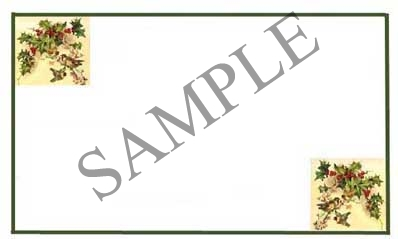 Happy Holidays Seasons Greetings Border Blank Rectangle Canning Label #RB126