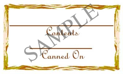 Wooden Frame Border Rectangle Canning Label #RCT100