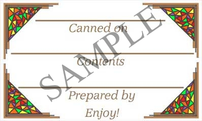 Stained Glass Border Rectangle Canning Label #RCT101