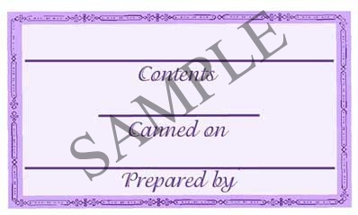 Purple Border Rectangle Canning Label #RCT102
