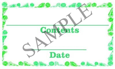 Green Swirl Border Rectangle Canning Label #RCT108