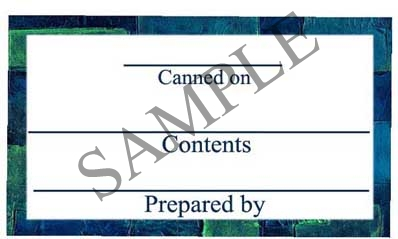 Blue Brick Border Rectangle Canning Label #RCT116