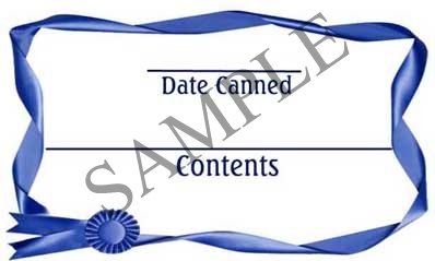 Blue Ribbon Rectangle Canning Label #RCT118