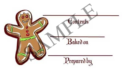 Gingerbread Man Rectangle Canning Label #RCT130