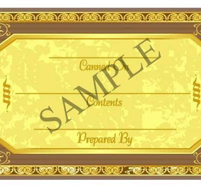 Gold Medallion Generic Rectangle Canning Label #RCT133